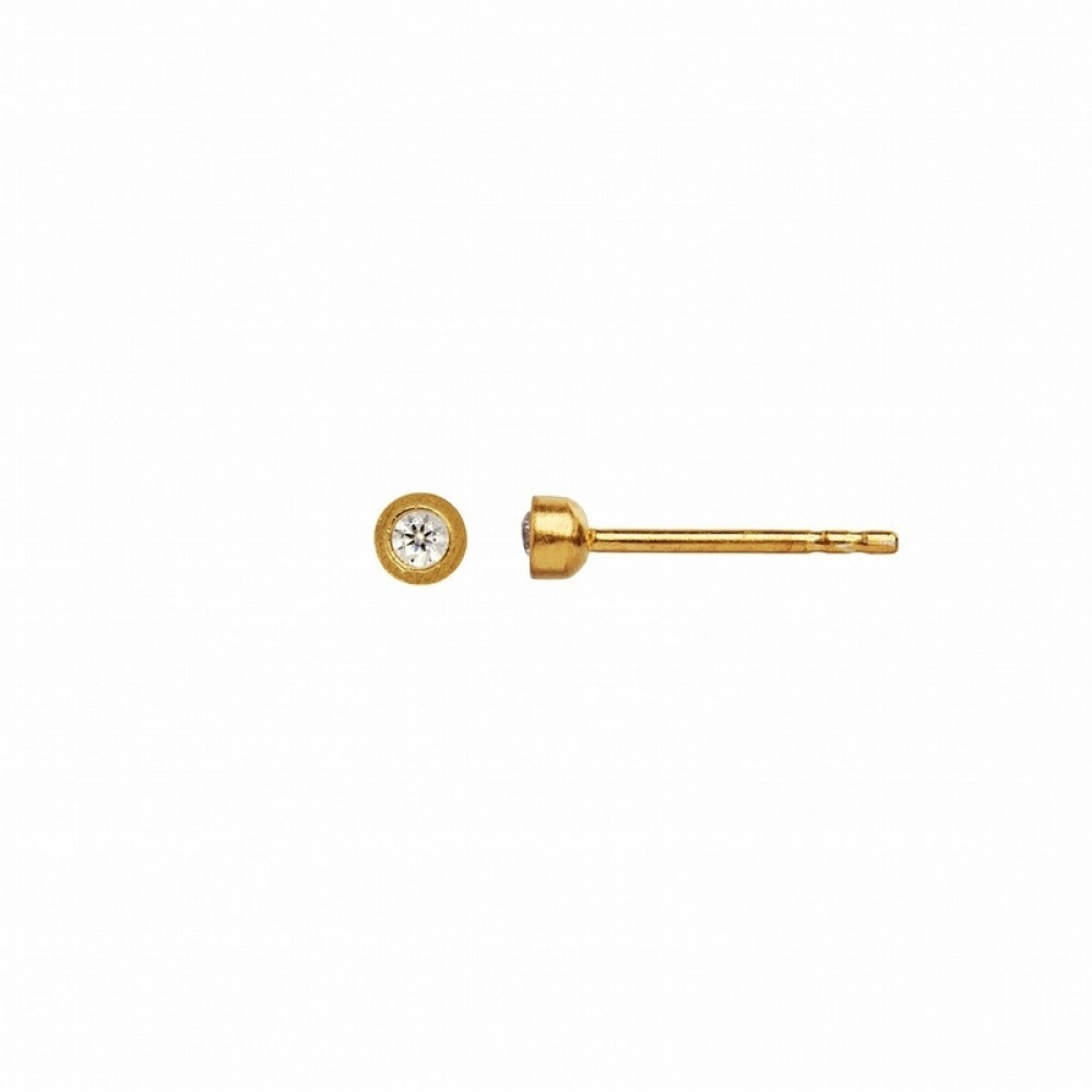 tine A ørering - Big Dot Earring Piece, Gold