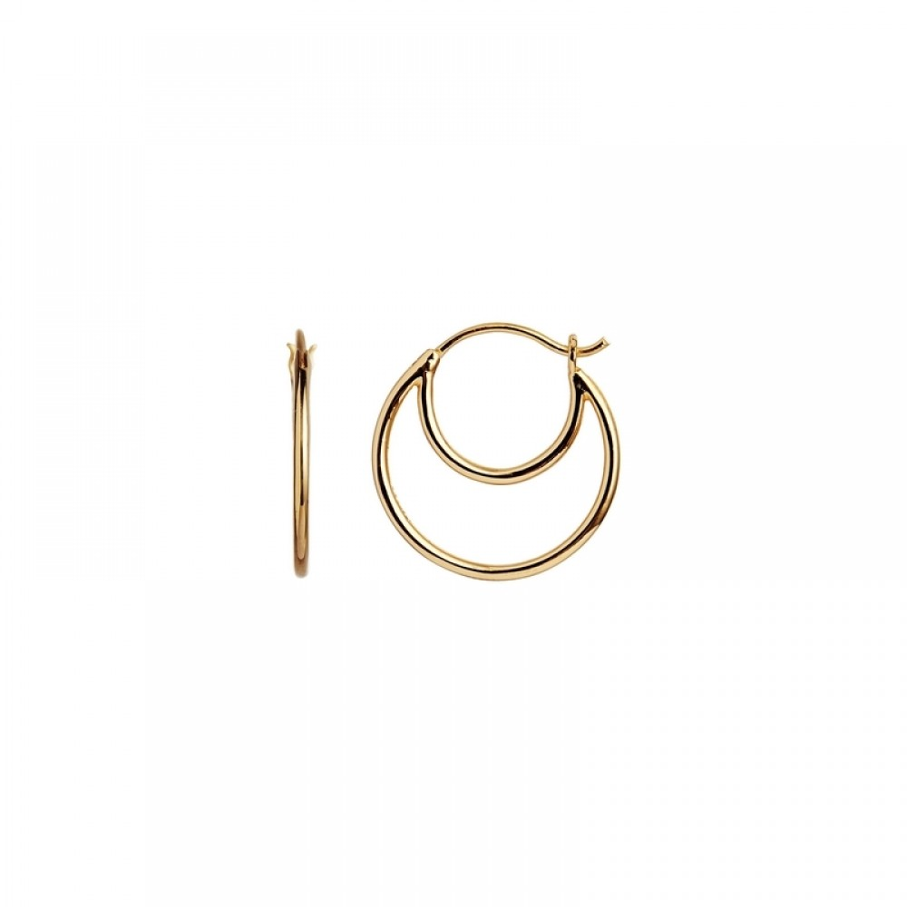 Stine A ørering - Double Creol Earring, Gold