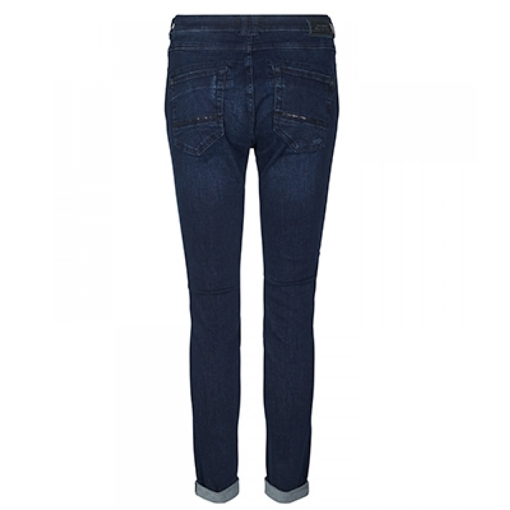 Mos Mosh jeans - Naomi Shine, Dark Blue Denim