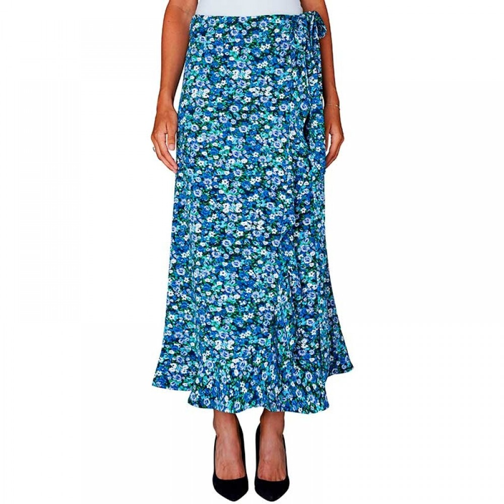 2nd One nederdel - Fey 442 Wrap Skirt, Florals Ruffle