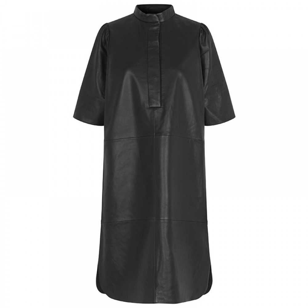 Second Female skindkjole - Indie Leather New Dress, Black