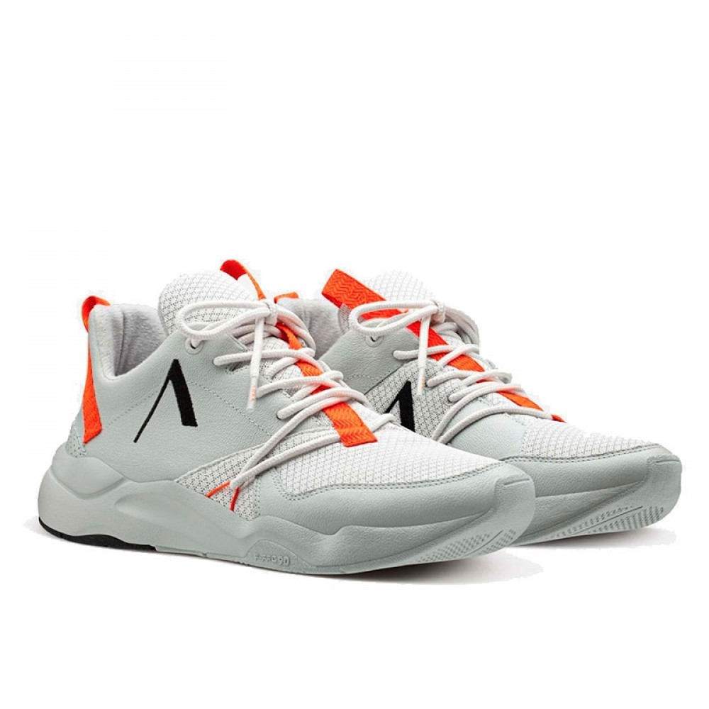 Arkk Copenhagen sneakers - Asymtrix Mesh F-PRO90, Soft Grey Orange