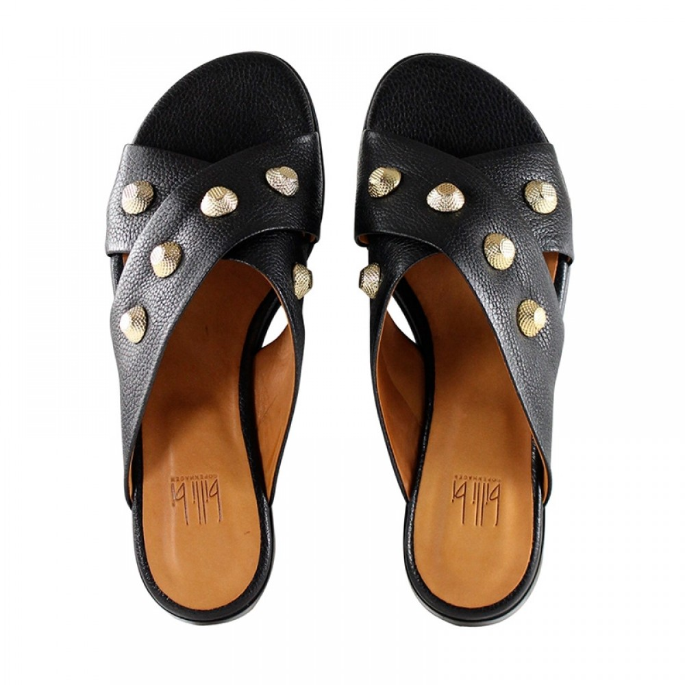 Billi Bi sandal - 4143 Buffalo Gold slippers, Black