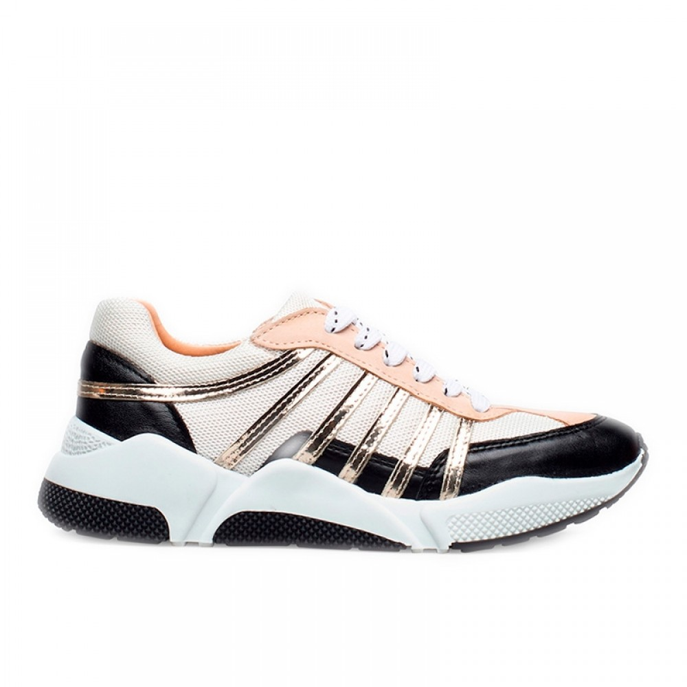 Billi Bi sko - Sport 4860 Sneakers, Black White Gold Combi
