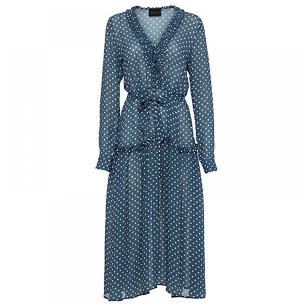 Birgitte Herskind kjole - Maggie Dress, Blue Dots