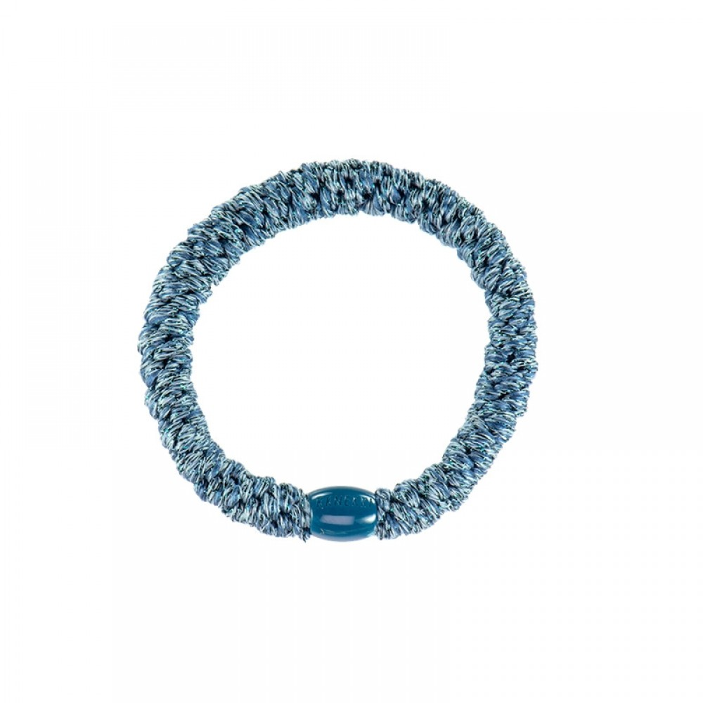 Bon Dep elastik - Kknekki Hair Ties, Dusty Blue Glitter