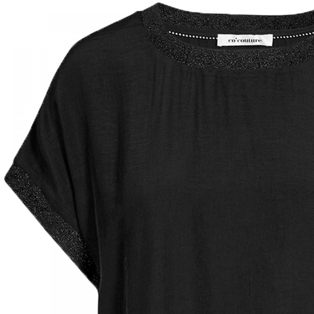 Co'couture bluse - New Norma Top, Black