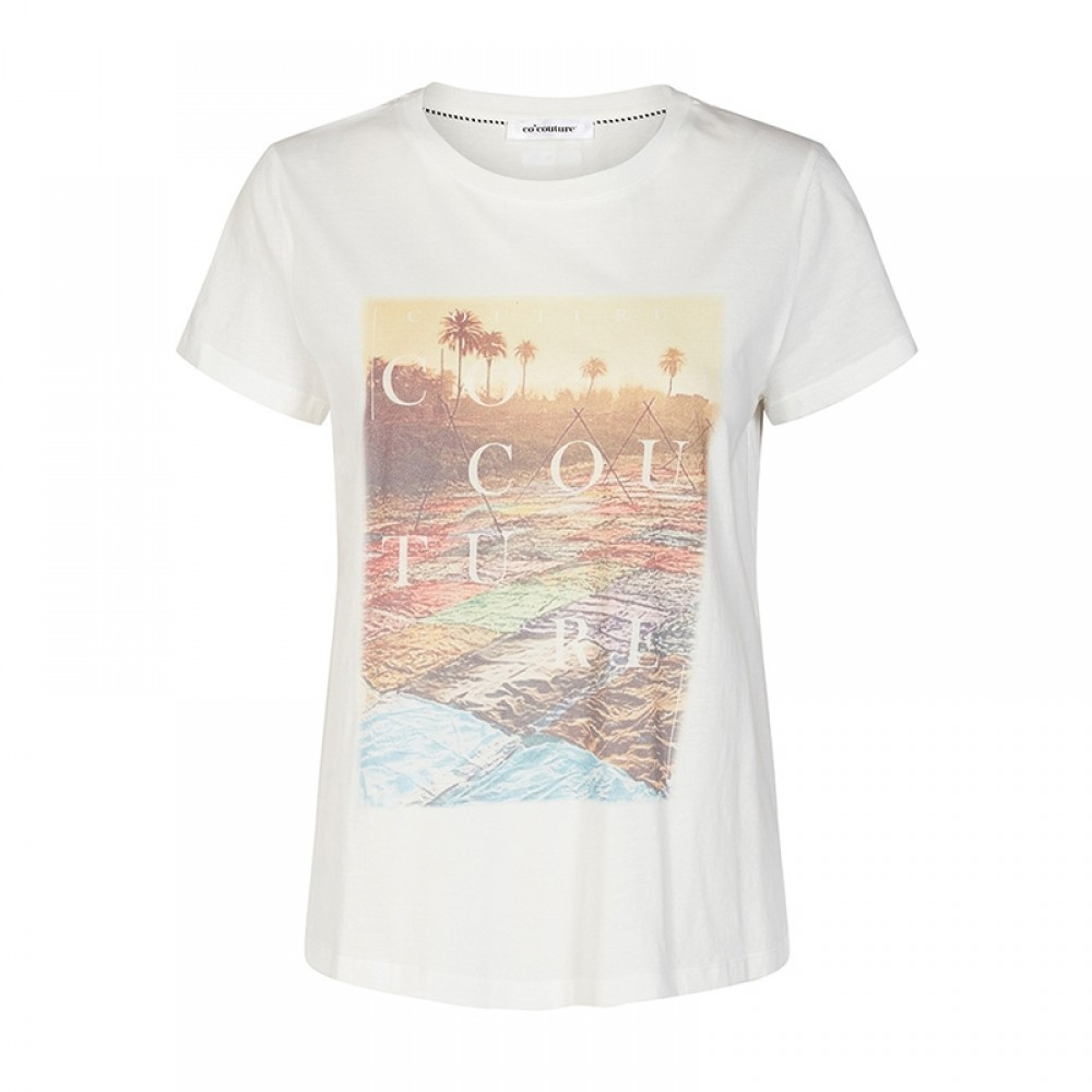 Co'couture bluse - Goa Tee T-Shirt, Off White