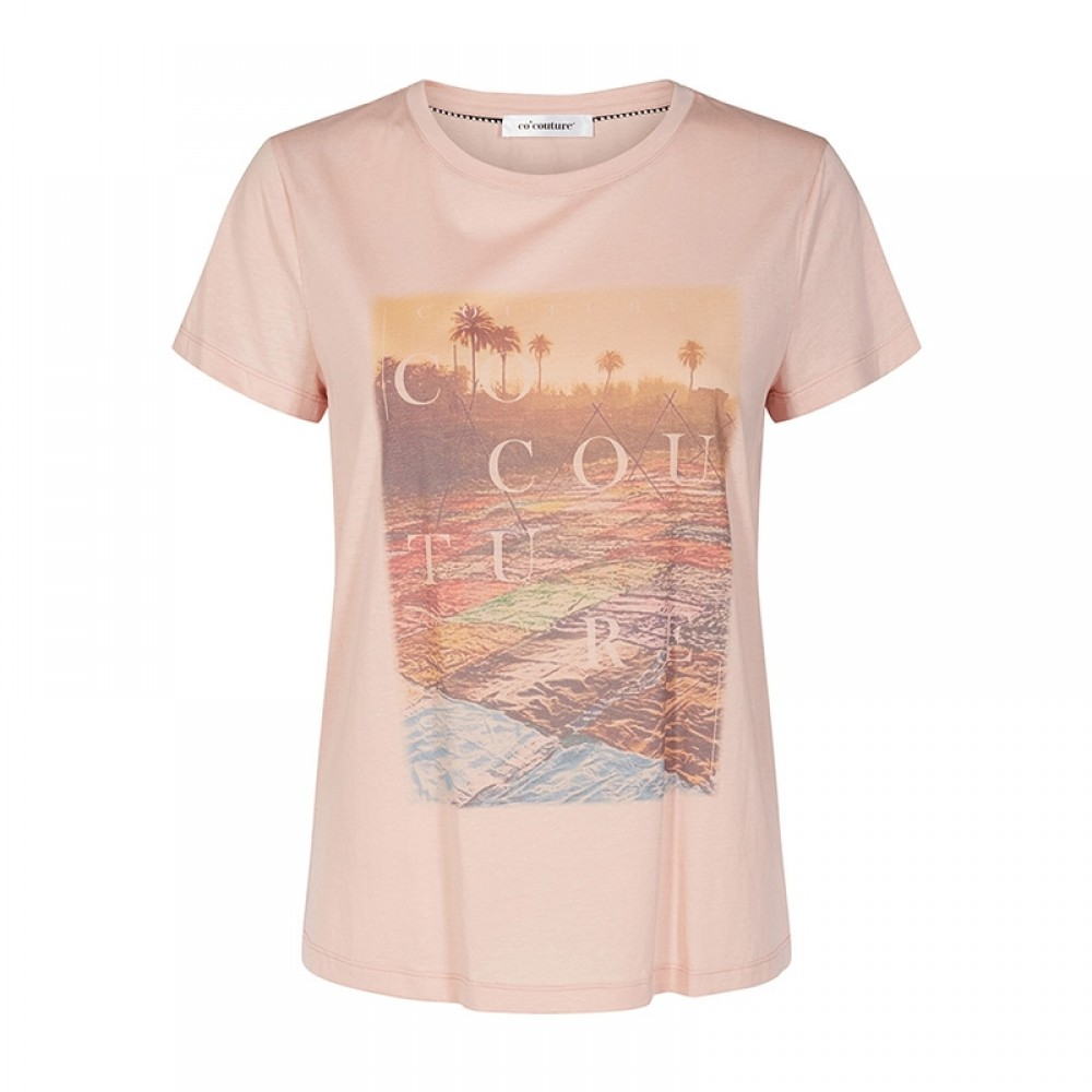 Co'couture bluse - Goa Tee T-Shirt, Nude Rose