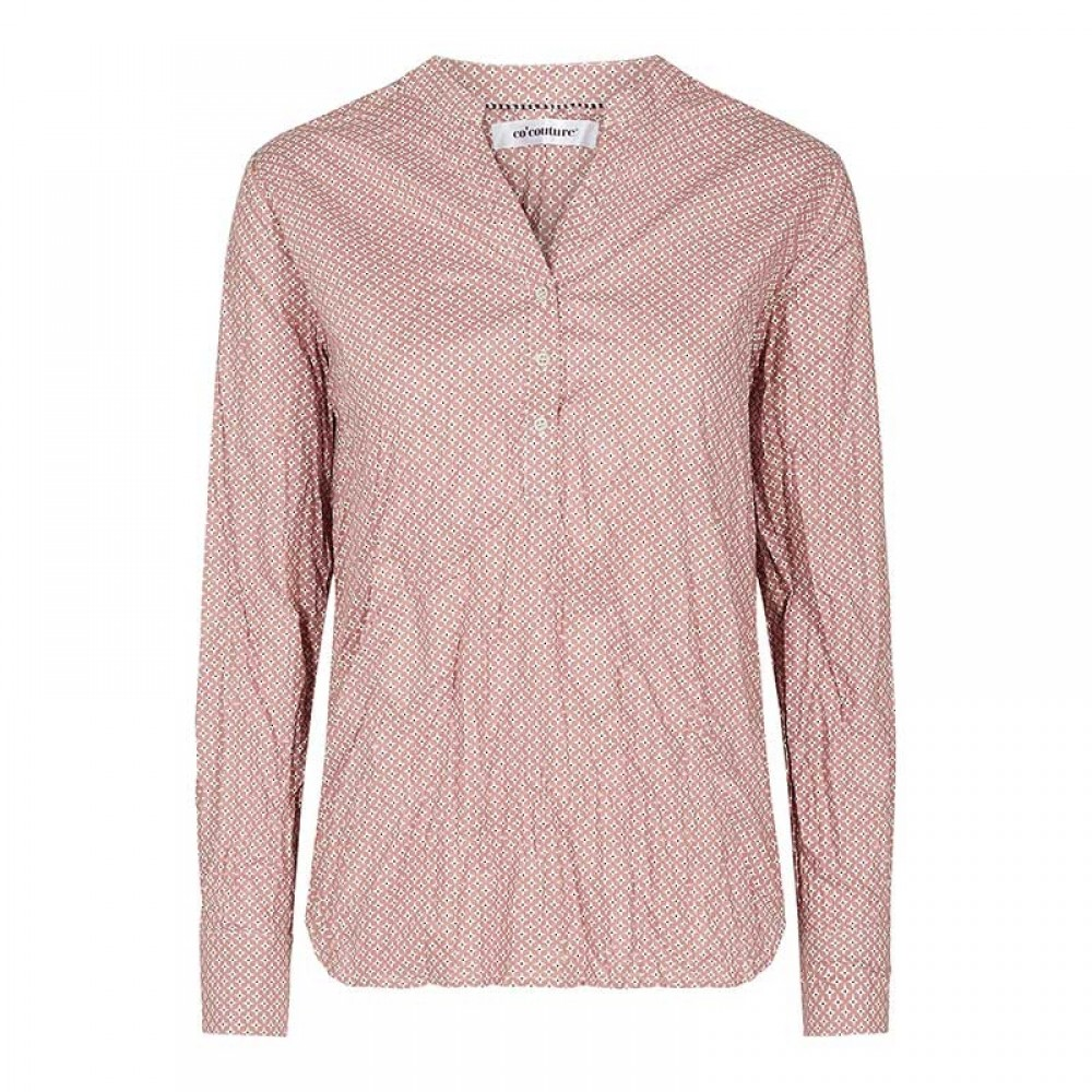 Co'couture bluse - Coco Compass Shirt, Nude Rose
