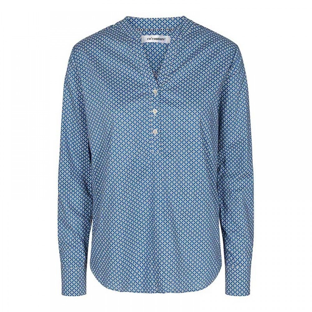 Co'couture bluse - Coco Compass Shirt, New Blue