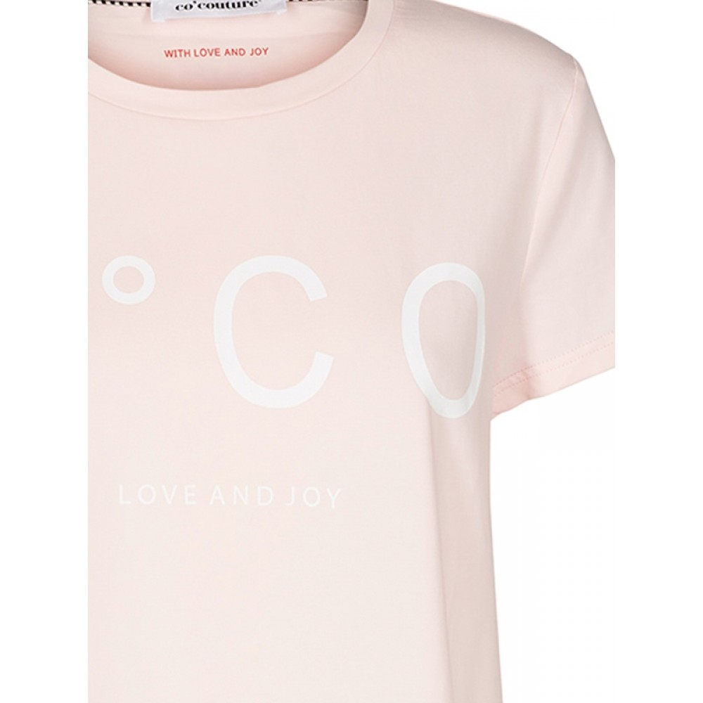 Co'couture bluse - Coco Signature Tee, Nude Rose