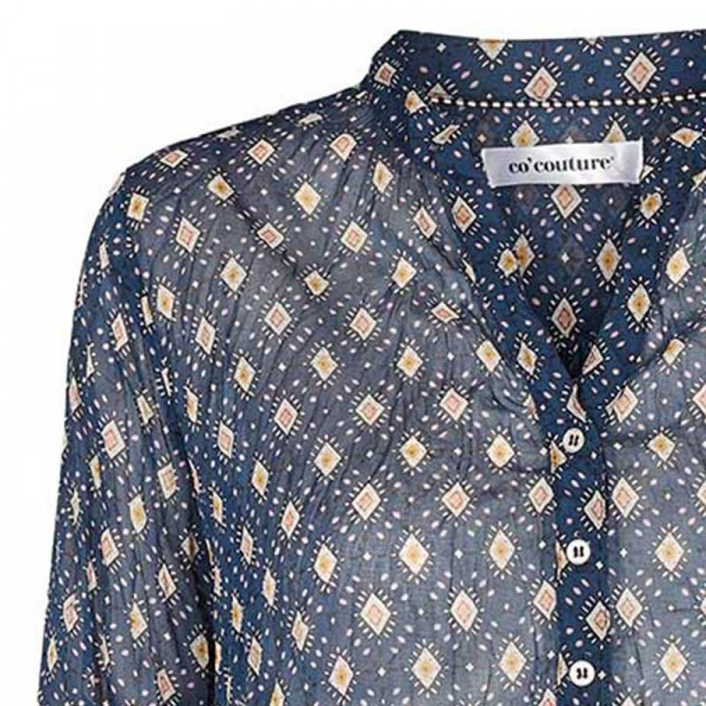 Co'couture bluse - Coco Delhi Shirt, Navy