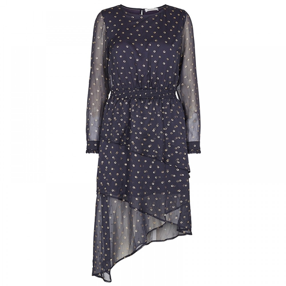 Co'couture kjole - Meteor Smock Dress, Navy