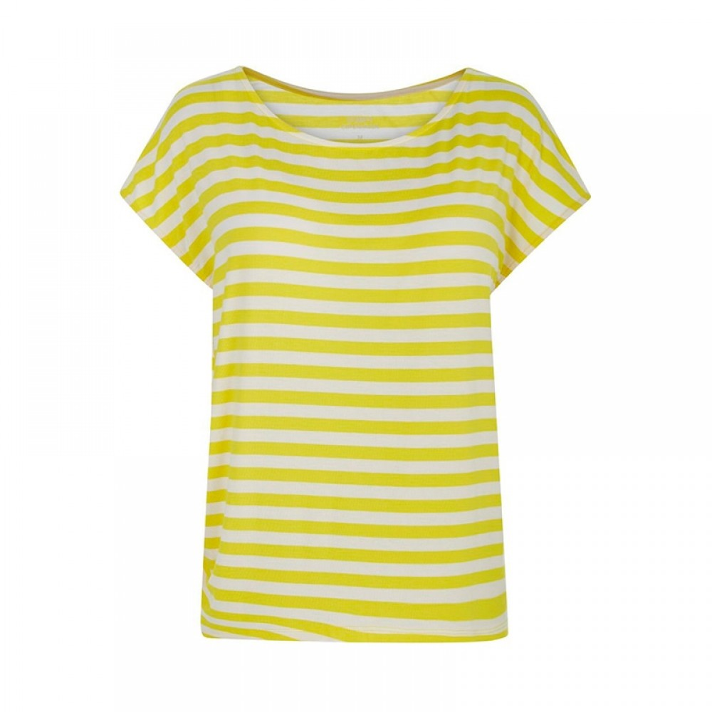 Comfy Copenhagen bluse - With Or Without You, Yellow Stripe