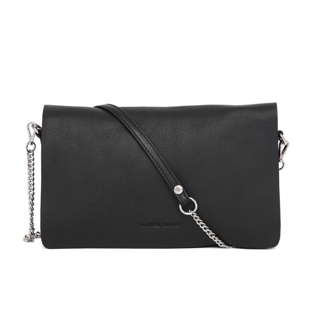 Daniel Silfen taske - Amalie Evening Bag, Black