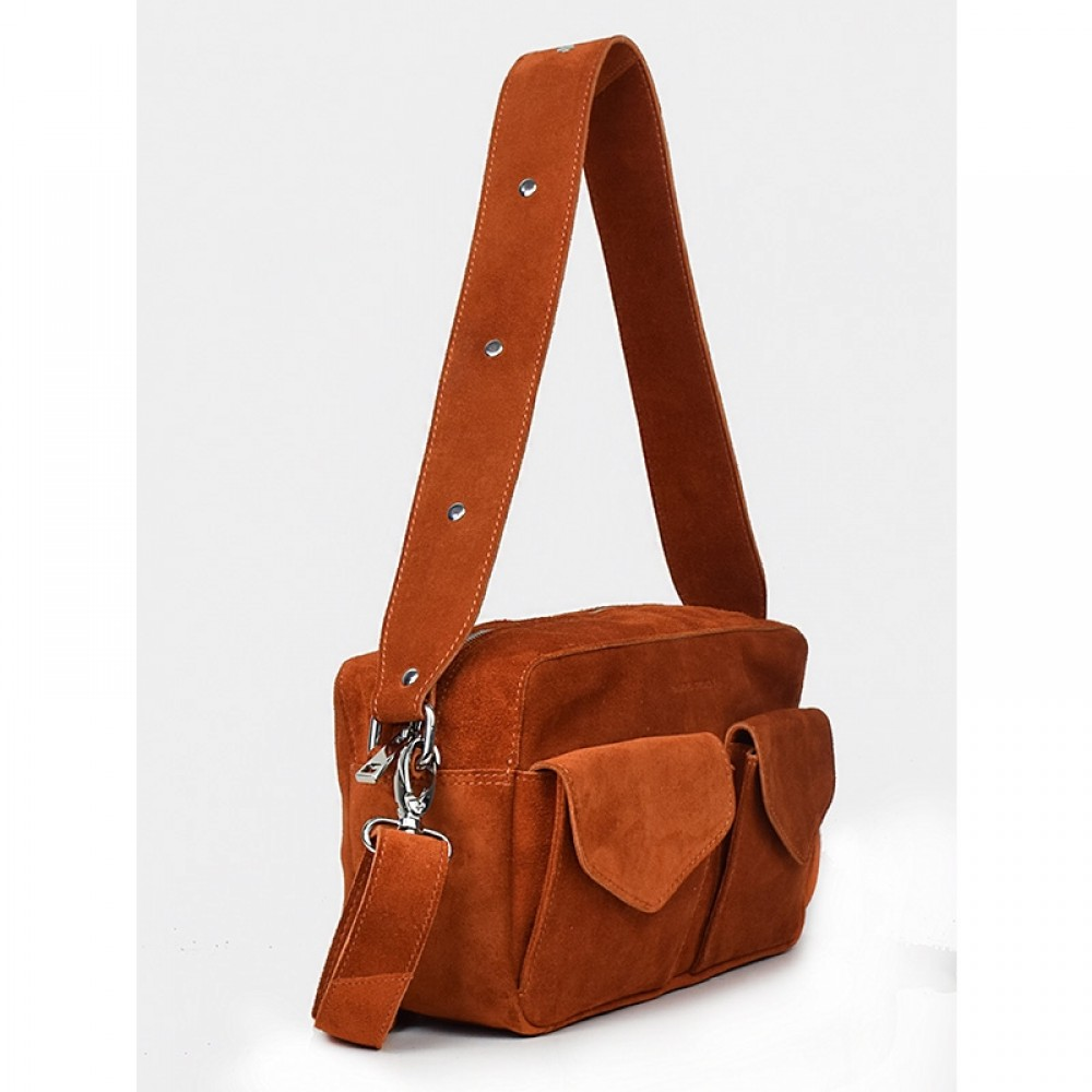 Daniel Silfen taske - Frida Crossbody, Orange