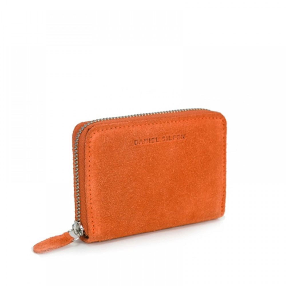 Daniel Silfen pung - Ida suede wallet, Orange