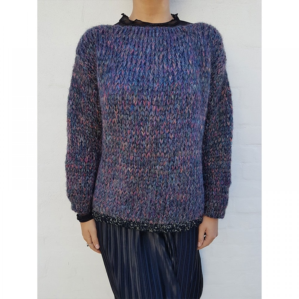 DawnxDare strikbluse - Elvin Long Sleeve, Bold Multi Mix