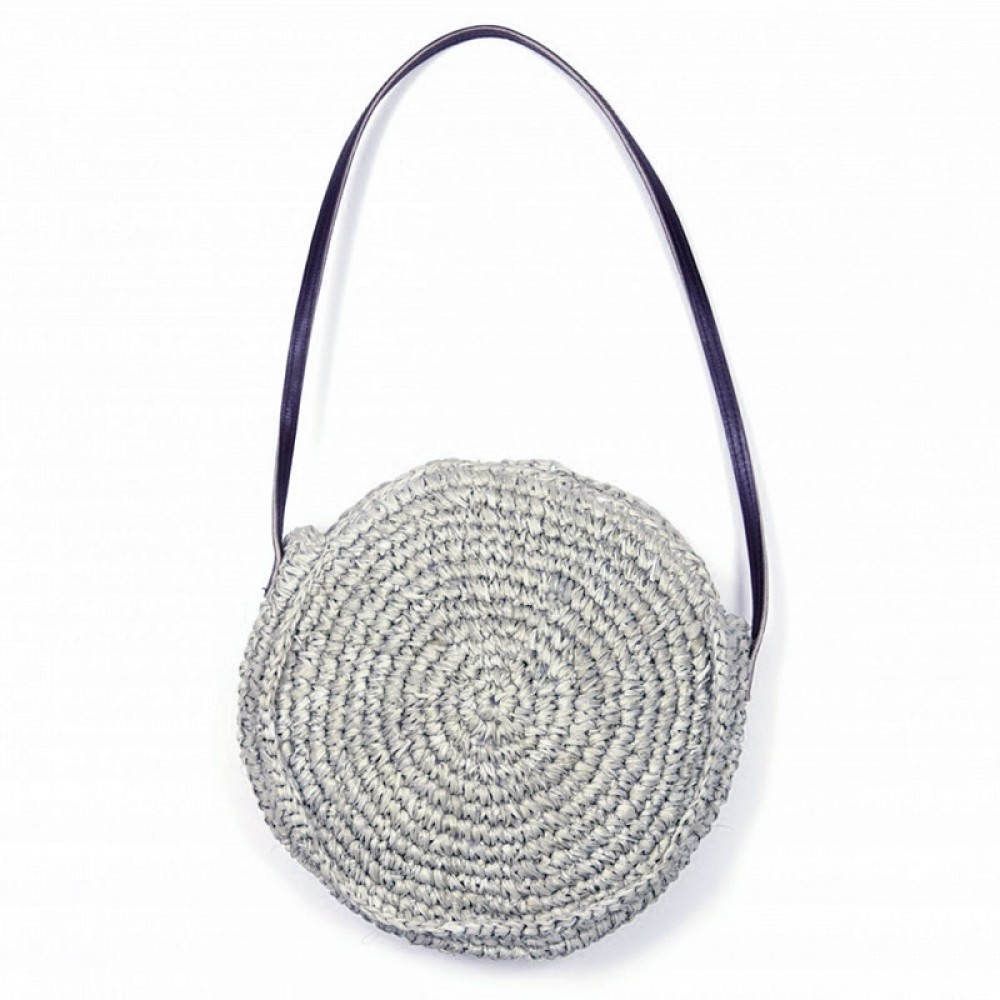 ET-TU taske - Mini Round Bag, Light Grey