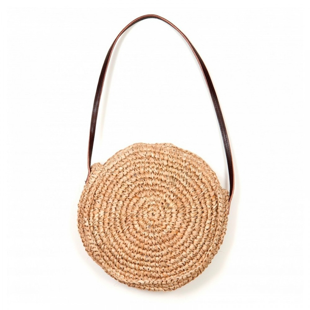 ET-TU taske - Mini Round Bag, Natural Brown
