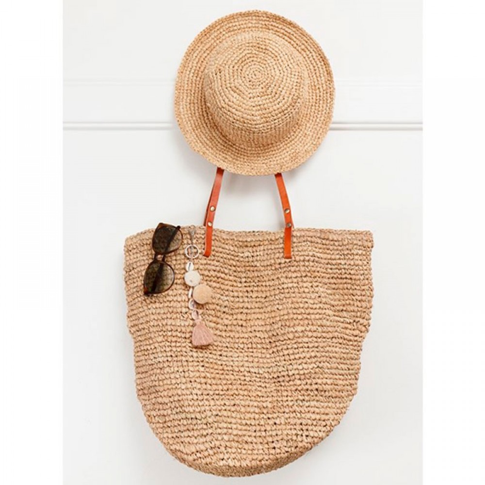 ET-TU taske - Beach Bag, Natural Brown