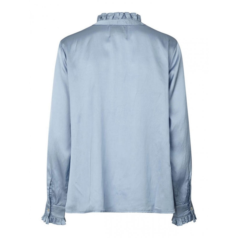 Lollys Laundry bluse - Franka, Light Blue