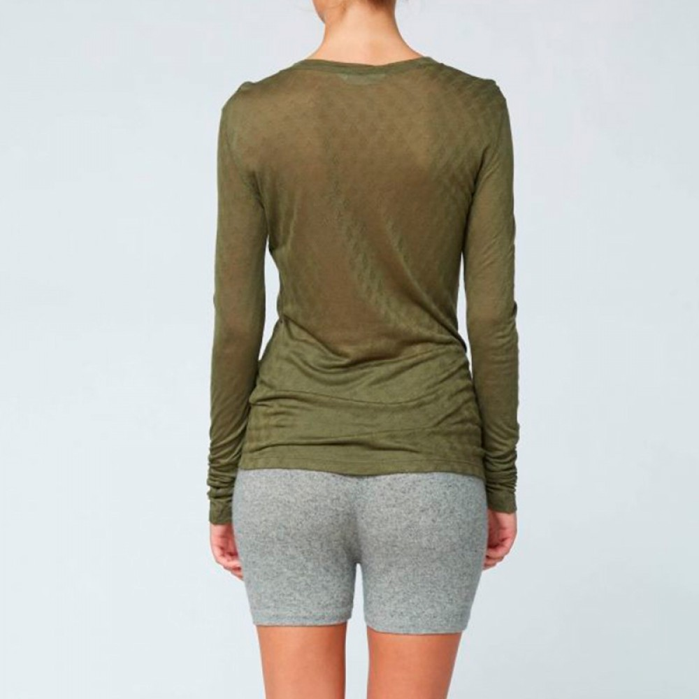 Gai + Lisva bluse - Fermi Blouse, Olive Night