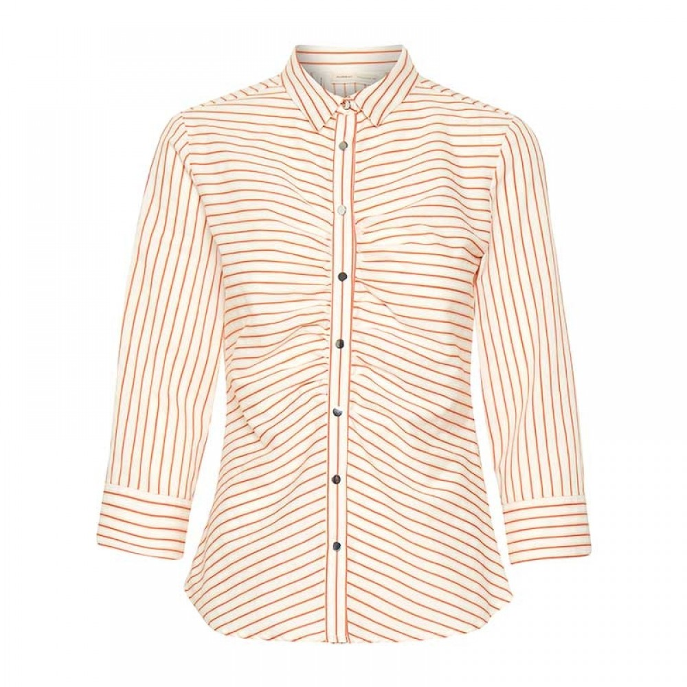 InWear skjorte - Howard Shirt, Gold Flame Stripe