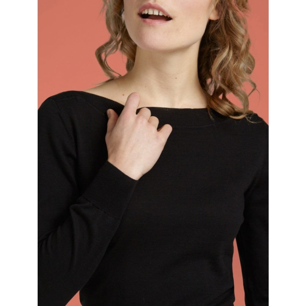 King Louie bluse - Audrey Top Cottonclub, Black