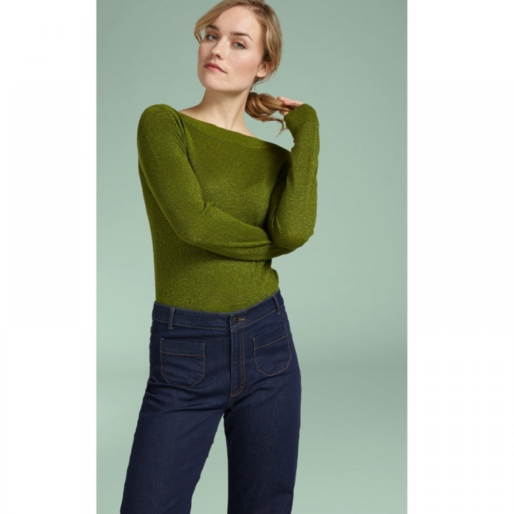 King Louie bluse - Audrey Top Lapis, Posey Green