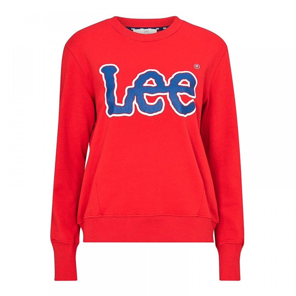 Lee bluse - Logo Sweatshirt, Bright Red