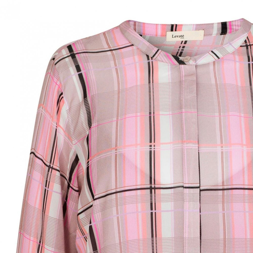 Levete Room bluse - EMMY 2, Pink Combi