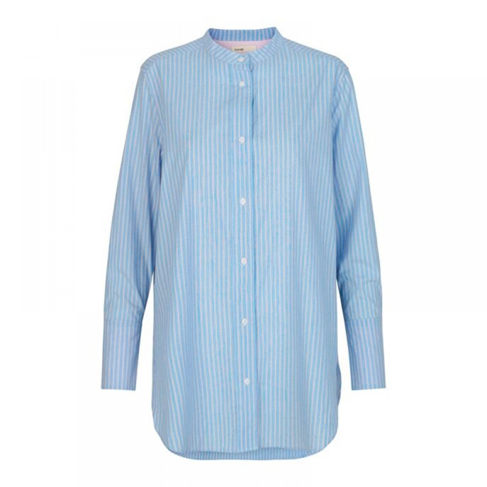 Levete Room skjorte - EVELIN 1 shirt, Pool Blue Combi