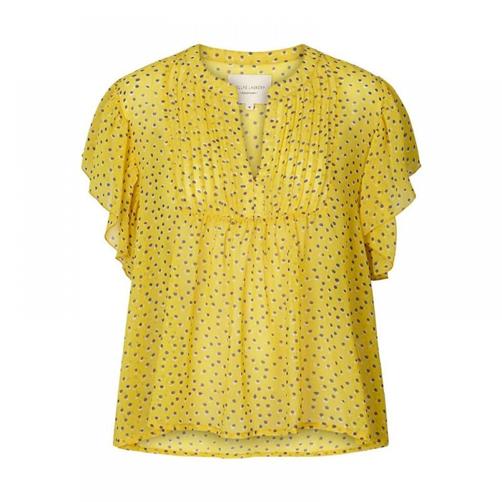 Lollys Laundry bluse - Isabel Top, Yellow