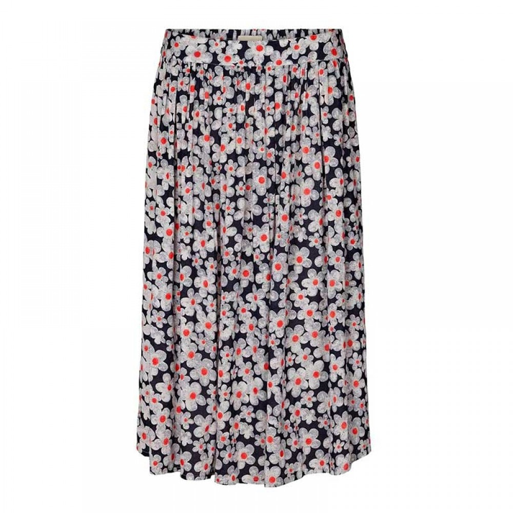 Lollys Laundry nederdel - Ella Skirt, Dark Navy