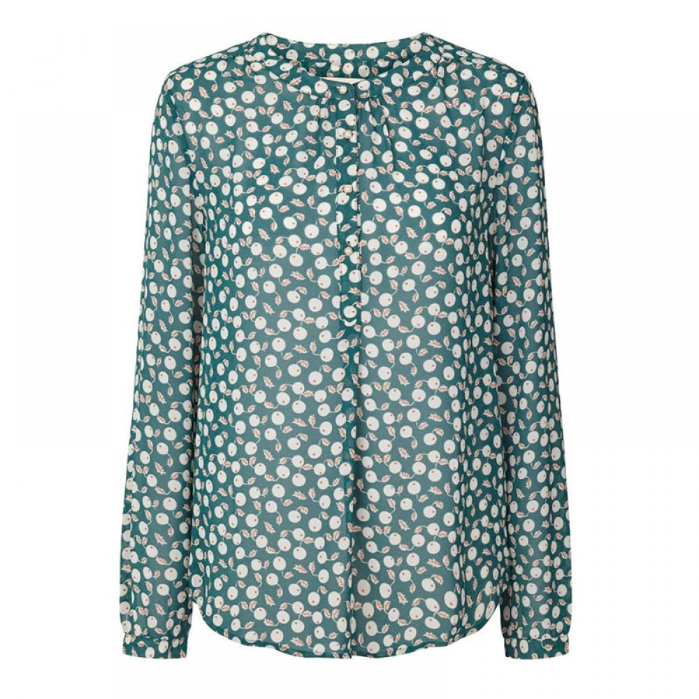 Lollys Laundry bluse - Singh Shirt, Dark Green