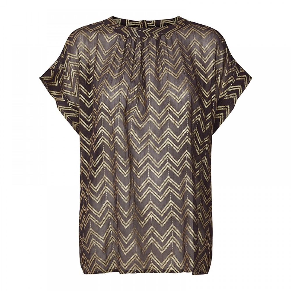 Lollys Laundry bluse - Deva Top, Dark Grey