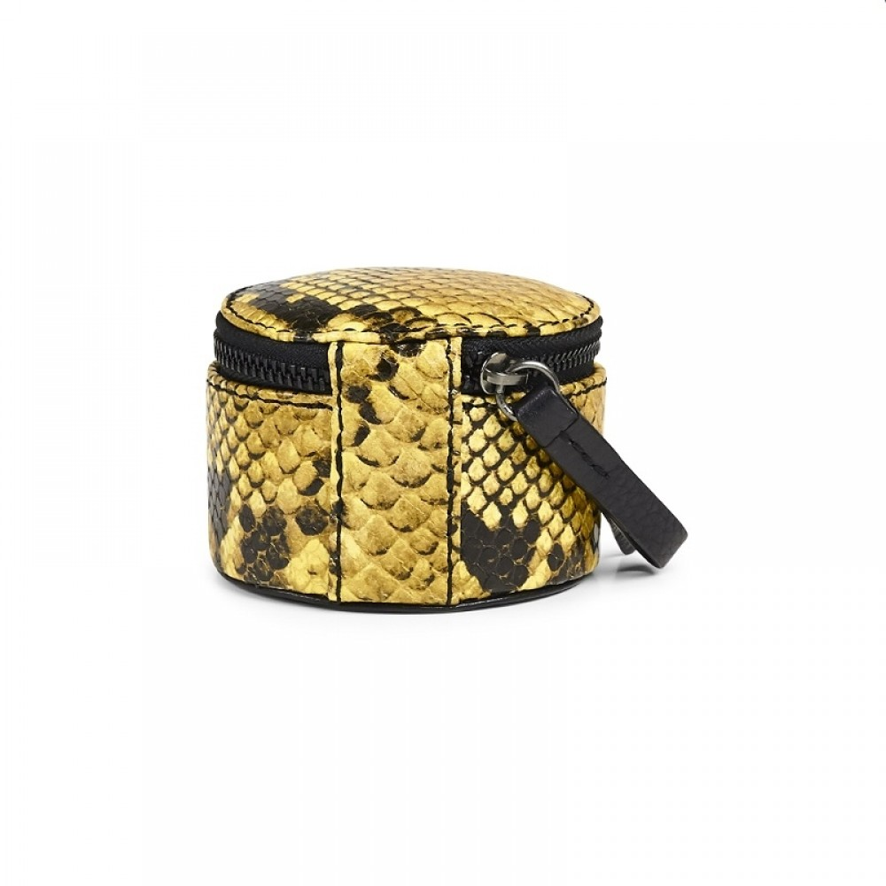 Markberg smykkebox - Lova Jewelry Box S, Snake print, Yellow