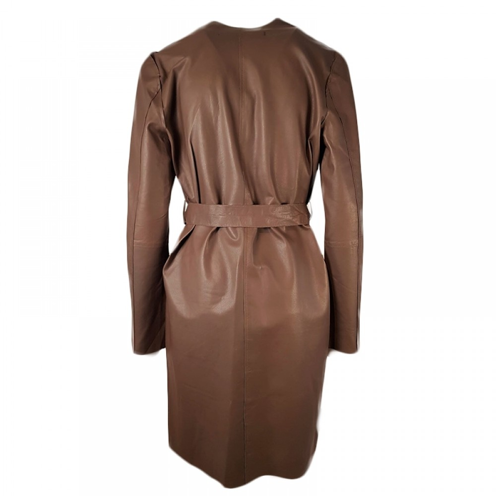 MDK skindjakke - Fiona Leather Coat, Bungee Cord