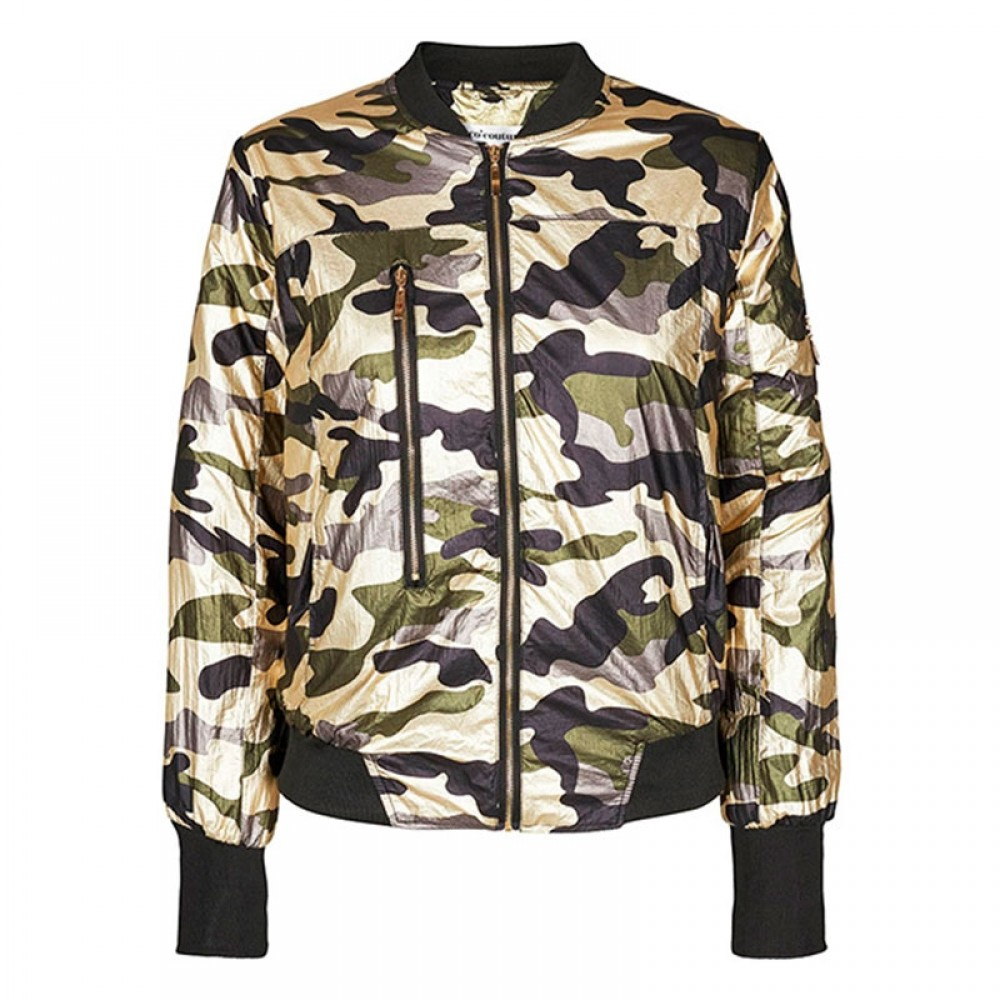 Co'couture Jakke - Metallic Camou Bomber, Army