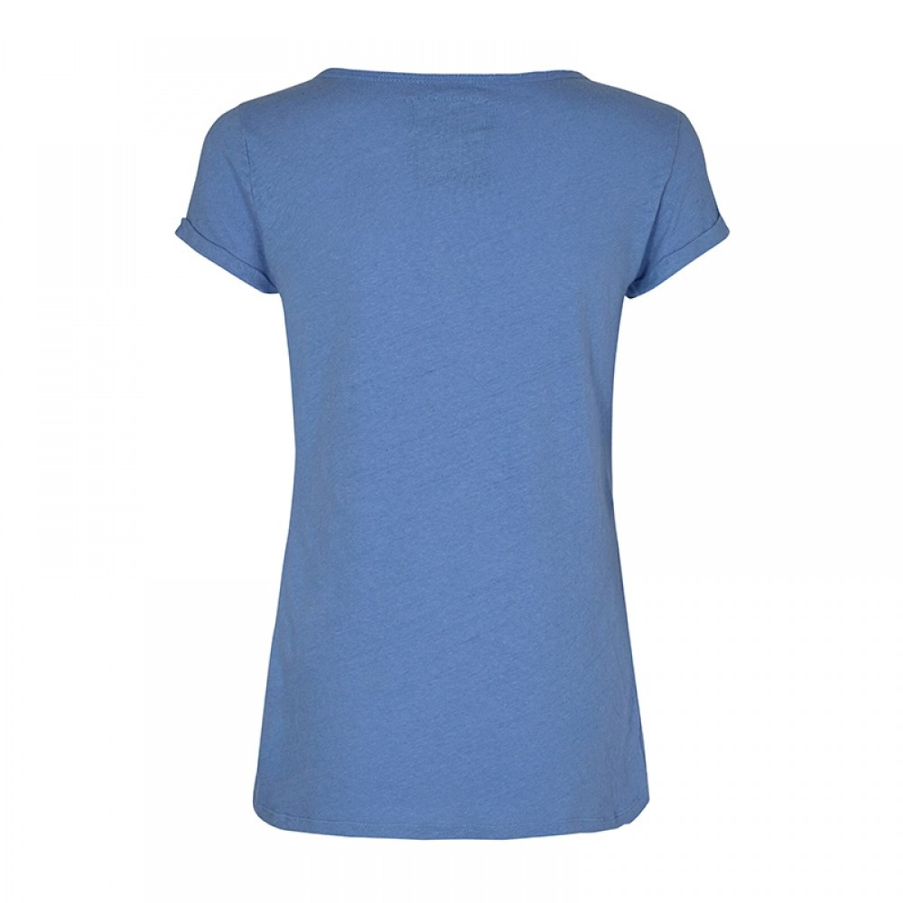Mos Mosh bluse - Troy Tee SS, Allure Blue