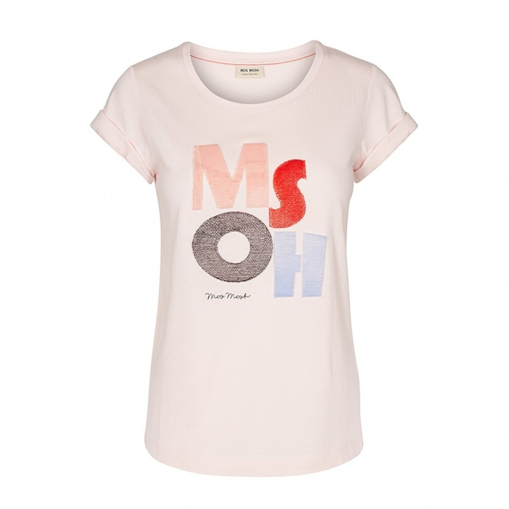 Mos Mosh bluse - Tile Tee, Soft Rose