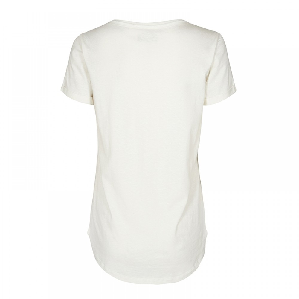 Mos Mosh bluse - Time Foil Tee, Off White