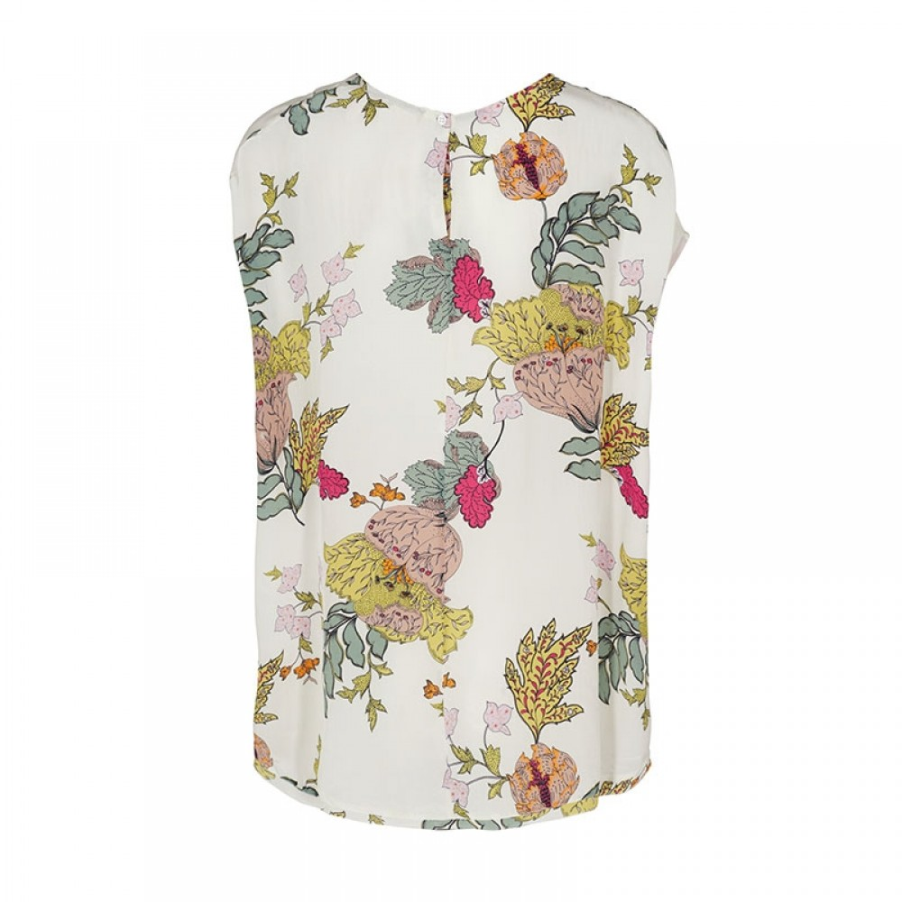 Mos Mosh bluse - Michelle Ava Blouse, Offwhite Flower