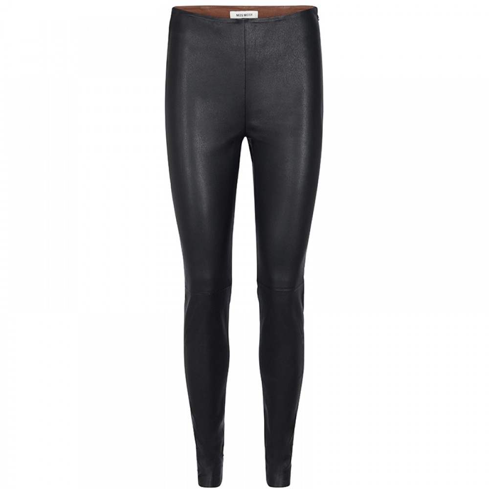 Mos Mosh legging - Lucille Stretch Leather Legging, Black