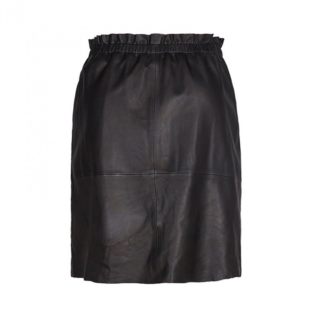 Mos Mosh nederdel - Ellie Leather Skirt, Black