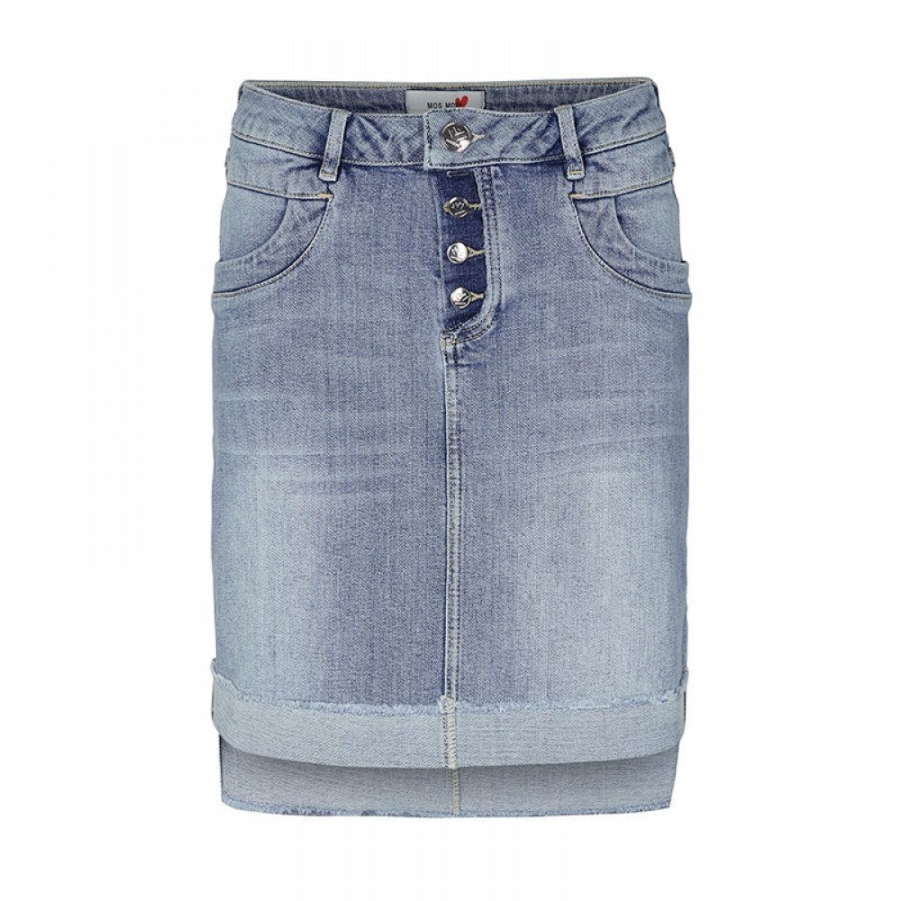 Mos Mosh nederdel - Valli See Denim Skirt, Light Blue Denim
