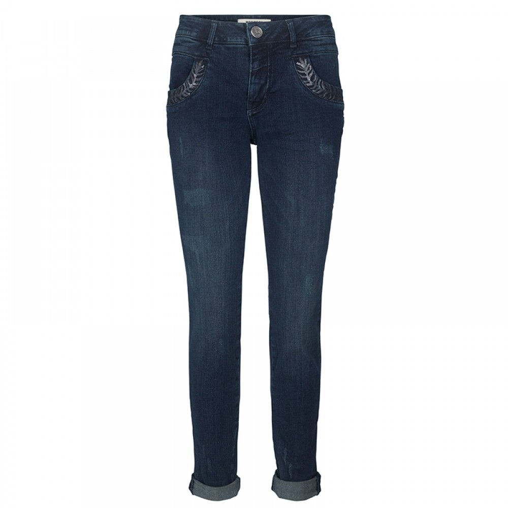 Mos Mosh jeans - Naomi Leaves Pant, Blue Denim