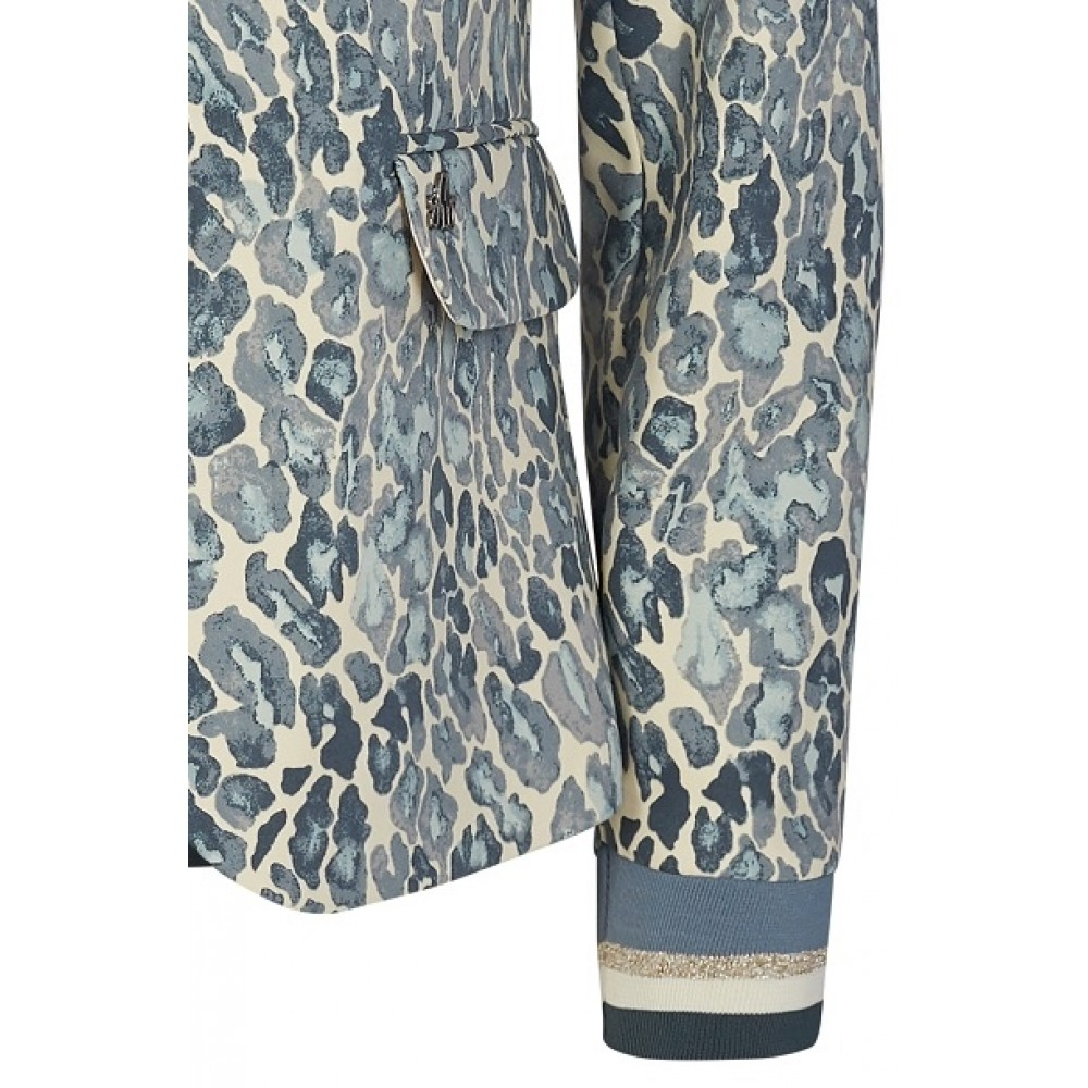 Mos Mosh blazer - Blake Animal Pant, Ice Blue Print